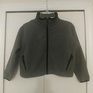 Black Diamond Fleece Gray Jacket with Black Trim